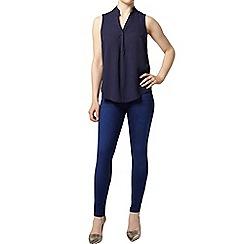 Dorothy Perkins - Petite navy sleeveless shirt