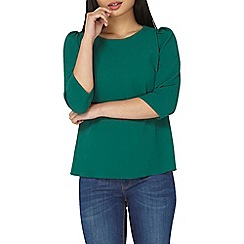 Dorothy Perkins - Petite green puff sleeves top