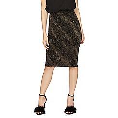 Dorothy Perkins - Petite gold tube skirt