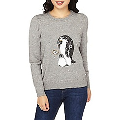 Dorothy Perkins - Petite grey penguin jumper