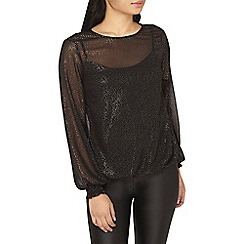 Dorothy Perkins - Petite black silver spotted blouse