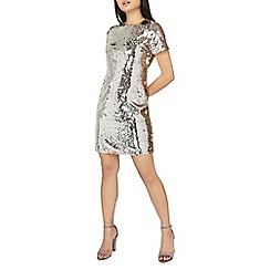 Dorothy Perkins - Petite metallic all over sequin shift dress