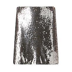 Dorothy Perkins - Petite silver sequin skirt