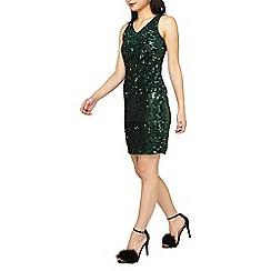 Dorothy Perkins - Petite green sequin shift dress