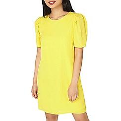 Dorothy Perkins - Petite yellow puff sleeves shift dress