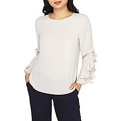 Dorothy Perkins - Petite ivory ruffle sleeves blouse