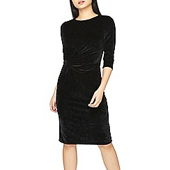 Dorothy Perkins - Petite black knot front dress