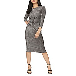 Dorothy Perkins - Petite silver knot front dress
