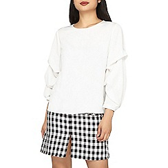 Dorothy Perkins - Petite ivory tuck detail sleeves blouse