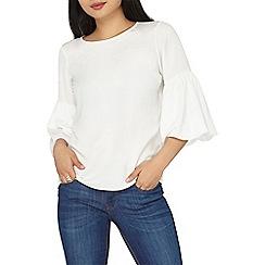 Dorothy Perkins - Petite ivory puff sleeves blouse