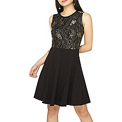 Dorothy Perkins - Petite gold lace 2-in-1 dress
