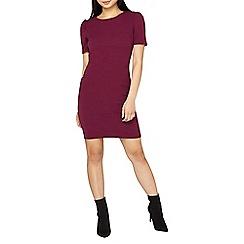 Dorothy Perkins - Petite purple jersey tuck sleeves shift dress