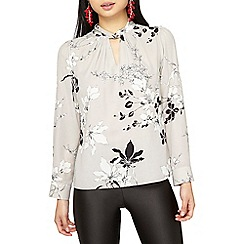 Dorothy Perkins - Petite silver floral top
