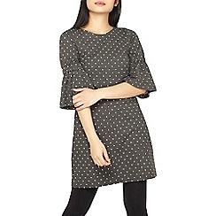 Dorothy Perkins - Petite grey polka dot shift dress