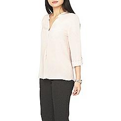 Dorothy Perkins - Petite blush roll sleeves shirt