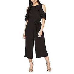 Dorothy Perkins - Petite black ruffle jumpsuit
