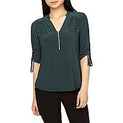 Dorothy Perkins - Petite vine green jersey shirt