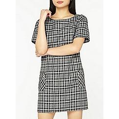 Dorothy Perkins - Petite grey checked shift dress