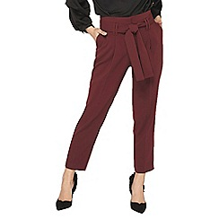 Dorothy Perkins - Petite port paperbag waist tapered leg trousers