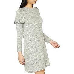 Dorothy Perkins - Petite grey frill sleeves shift dress