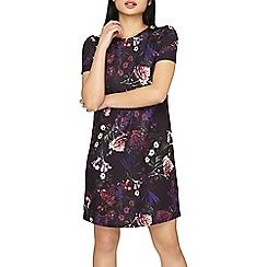 Dorothy Perkins - Petite purple floral print shift dress
