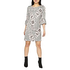 Dorothy Perkins - Petite pink floral and checked shift dress
