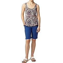 Dorothy Perkins - Petite blue knee short