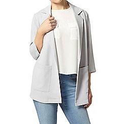 Dorothy Perkins - Petite grey crepe kimono jacket