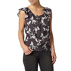 Dorothy Perkins - Petite butterfly gypsy top