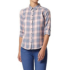 Dorothy Perkins - Petite checked sleeved shirt