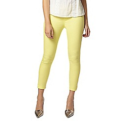 Dorothy Perkins - Petite lemon 'eden' capri jeggings