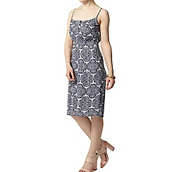 Dorothy Perkins - Petite blue crinkle camisole dress