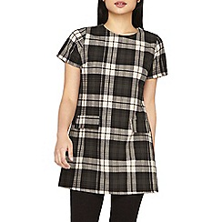 Dorothy Perkins - Petite green and beige checked tunic