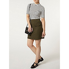 Dorothy Perkins - Petite pocket a line skirt