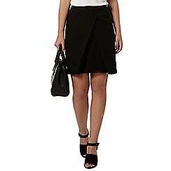 Dorothy Perkins - Petite black wrap skirt
