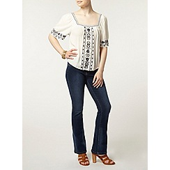 Dorothy Perkins - Petite white square neck top