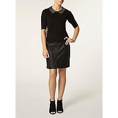 Dorothy Perkins - Petite black collar jumper