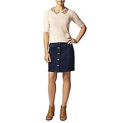 Dorothy Perkins - Petite blush collar jumper