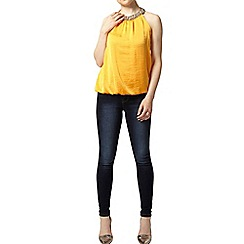 Dorothy Perkins - Petite orange cut away bubble top
