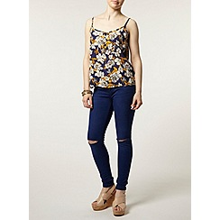 Dorothy Perkins - Petite floral crinkle camisole top