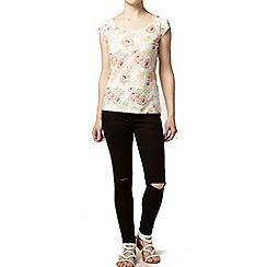 Dorothy Perkins - Petite floral printed gem t-shirt