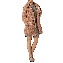 Dorothy Perkins - Petite mink longline fur coat