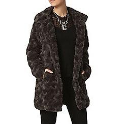 Dorothy Perkins - Petite charcoal longline coat