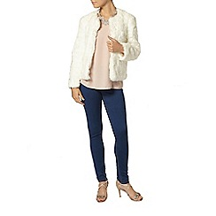 Dorothy Perkins - Petite ivory short fur jacket