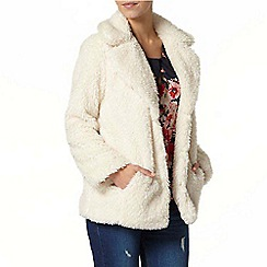 Dorothy Perkins - Petite cream fur coat