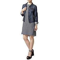 Dorothy Perkins - Petite blue tile shift dress