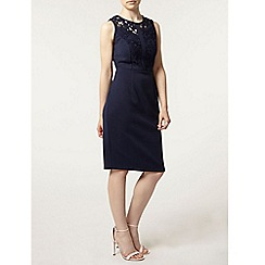 Dorothy Perkins - Petite navy lace pencil dress