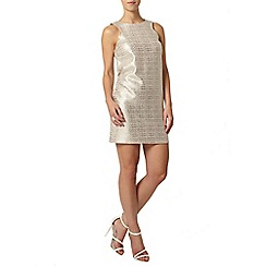 Dorothy Perkins - Petite gold foil shift dress