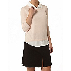 Dorothy Perkins - Petite blush 2 in 1 jumper