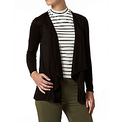 Dorothy Perkins - Petite black waterfall cardigan